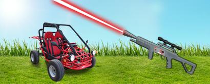 lasergamen buggyLasergame & Buggytour Pakket