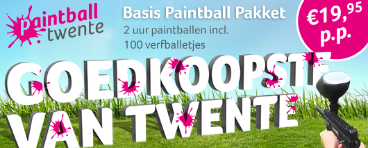 Paintball Twente facebook GoedkoopstevanTwente websiteBasispakket Paintball 2017 Actie!